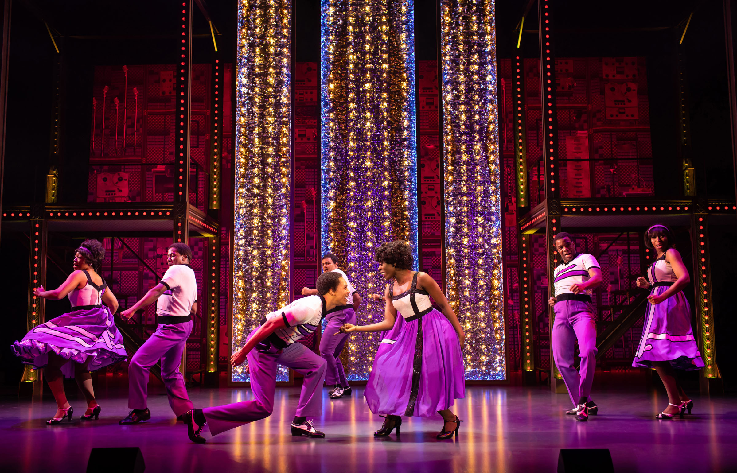 The cast of Beautiful - The Carole King Musical on their 2020 Tour in Bromley