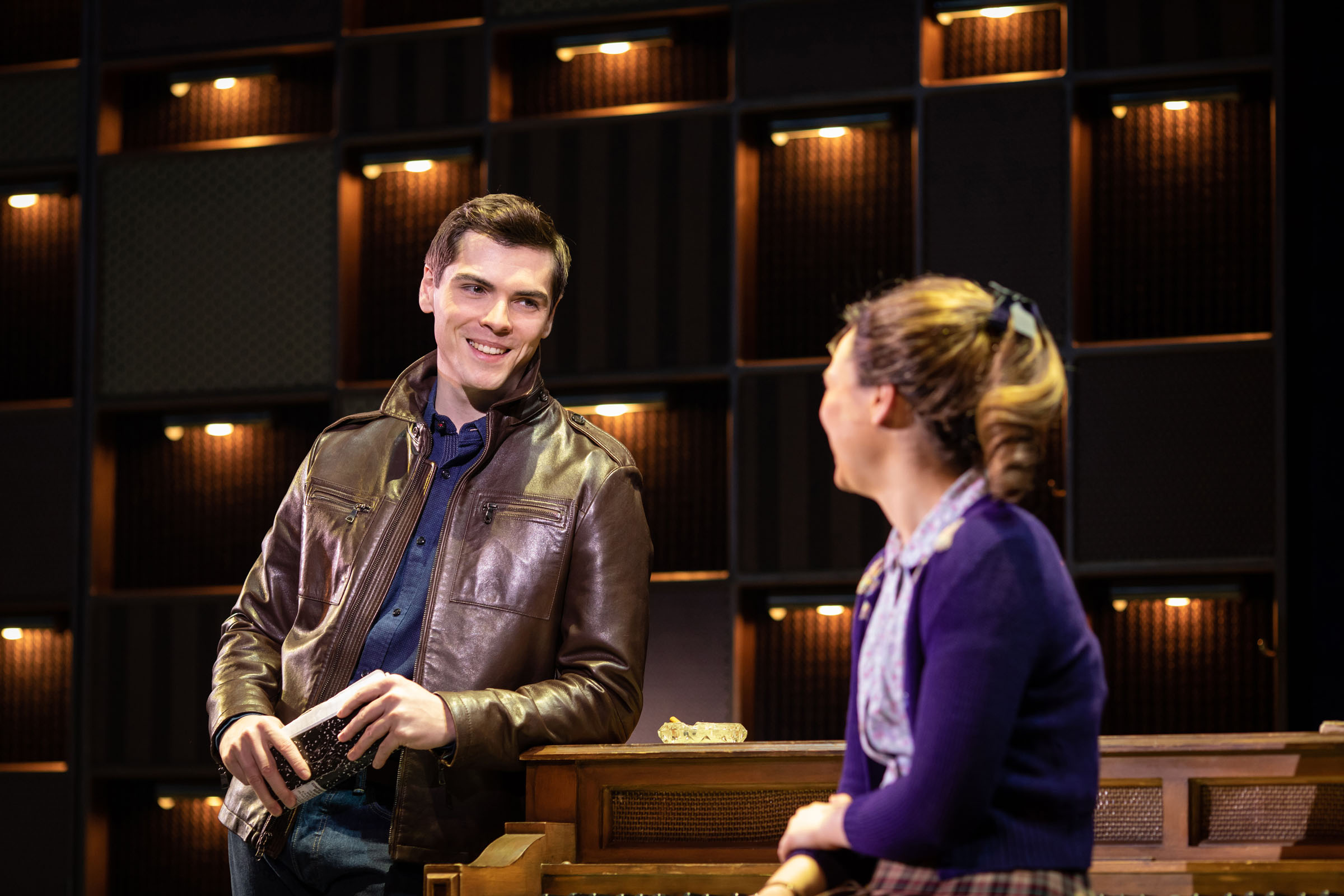 Adam Gillian as Gerry Goffin and Daisy Wood-Davis as Carole King in 'Beautiful - The Carole King Musical'