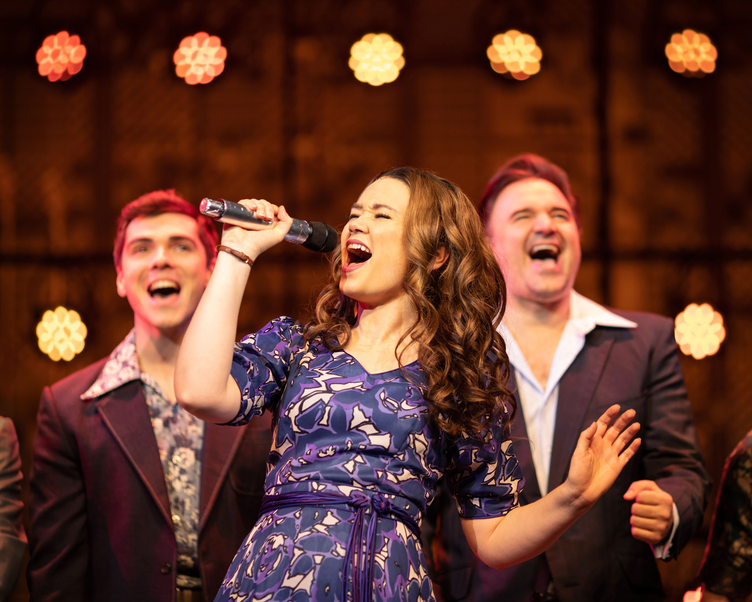 Adam Gillian, Daisy Wood-Davis and Oliver Boot in 'Beautiful - The Carole King Musical'