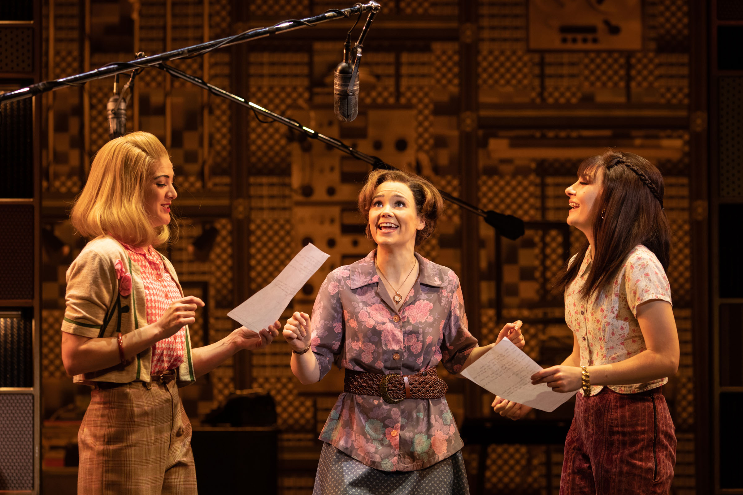 Carly Cook, Daisy Wood-Davis and Julia Dray sing during 'Beautiful'