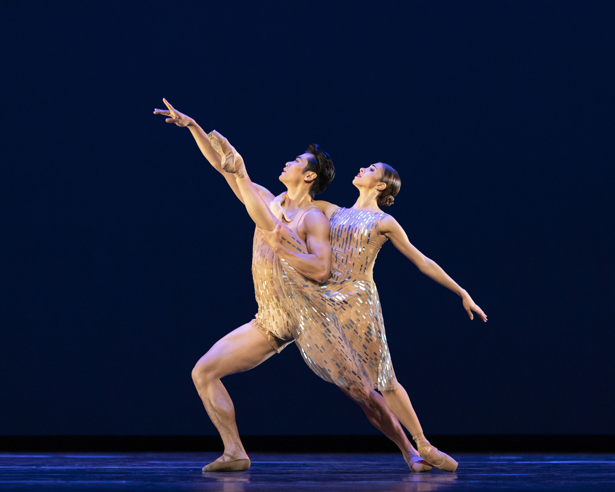 Ryoichi Hirano and Yasmine Nagdhi in 'Within the Golden Hour' part of '21st Century Choreographers' at The Royal Opera House