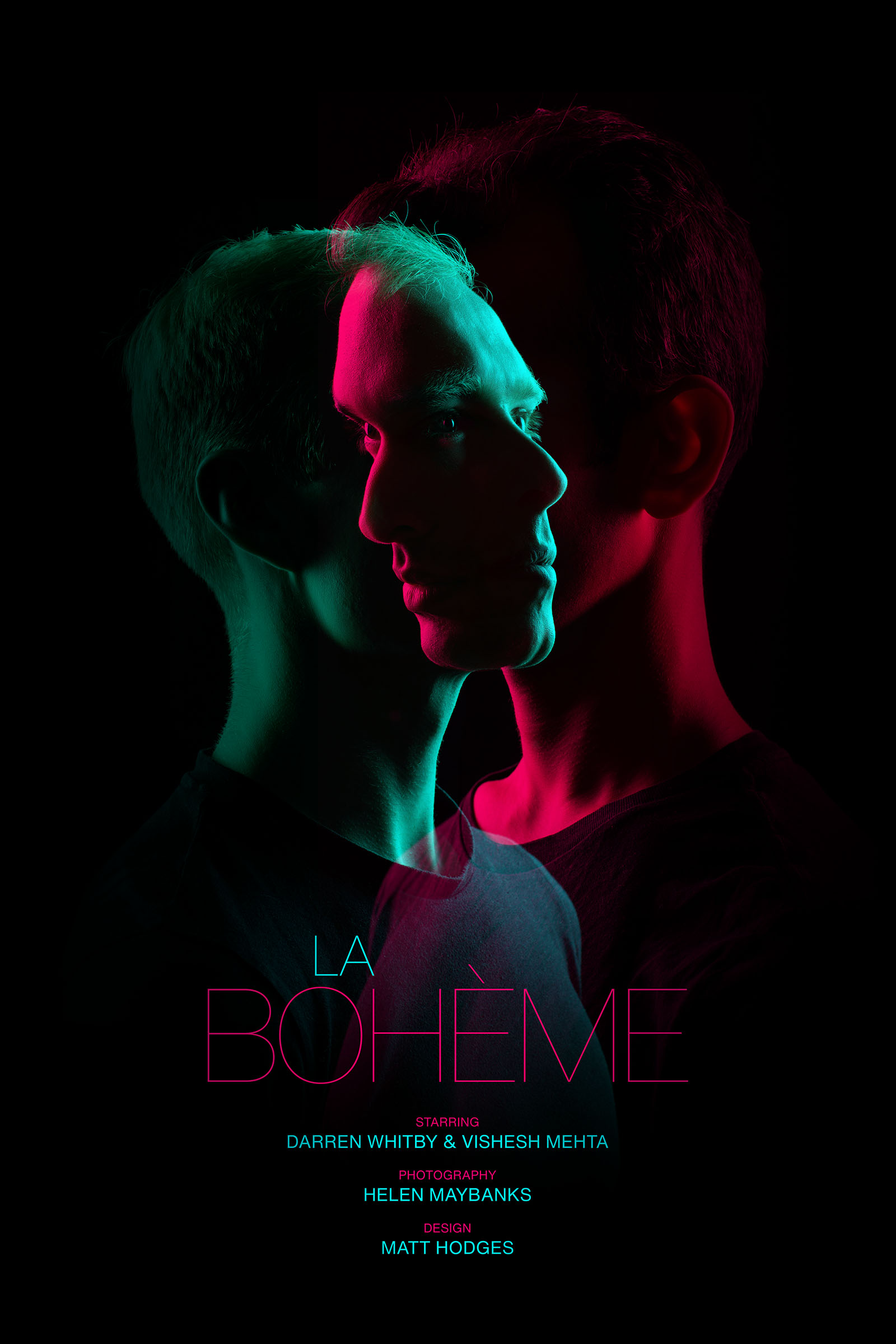 A poster for La bohème featuring Vishesh Mehta and Darren Whitby
