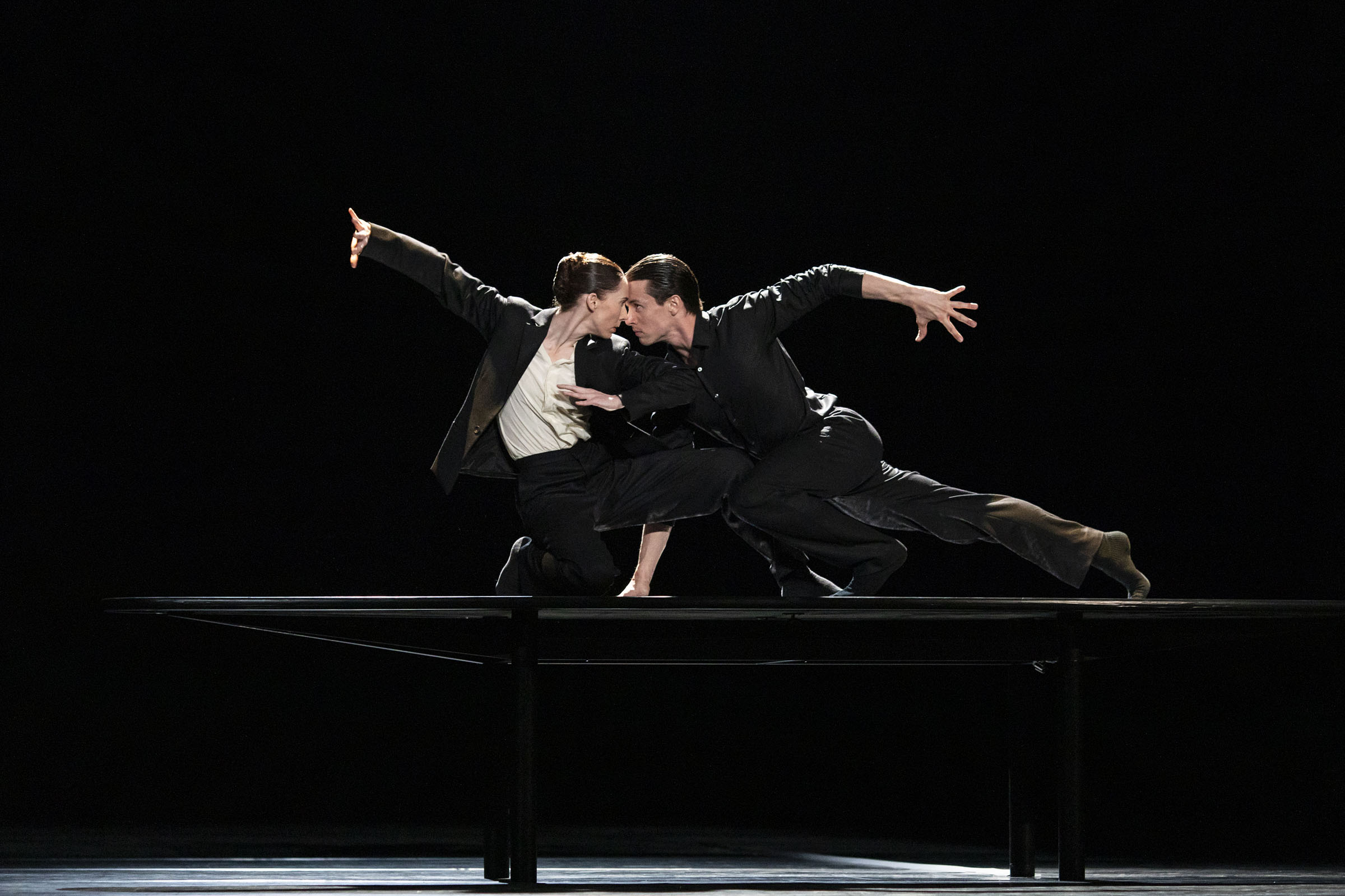 Kristen McNally and Calvin Richardson in 'The Statement', part of '21st Century Choreographers by The Royal Ballet