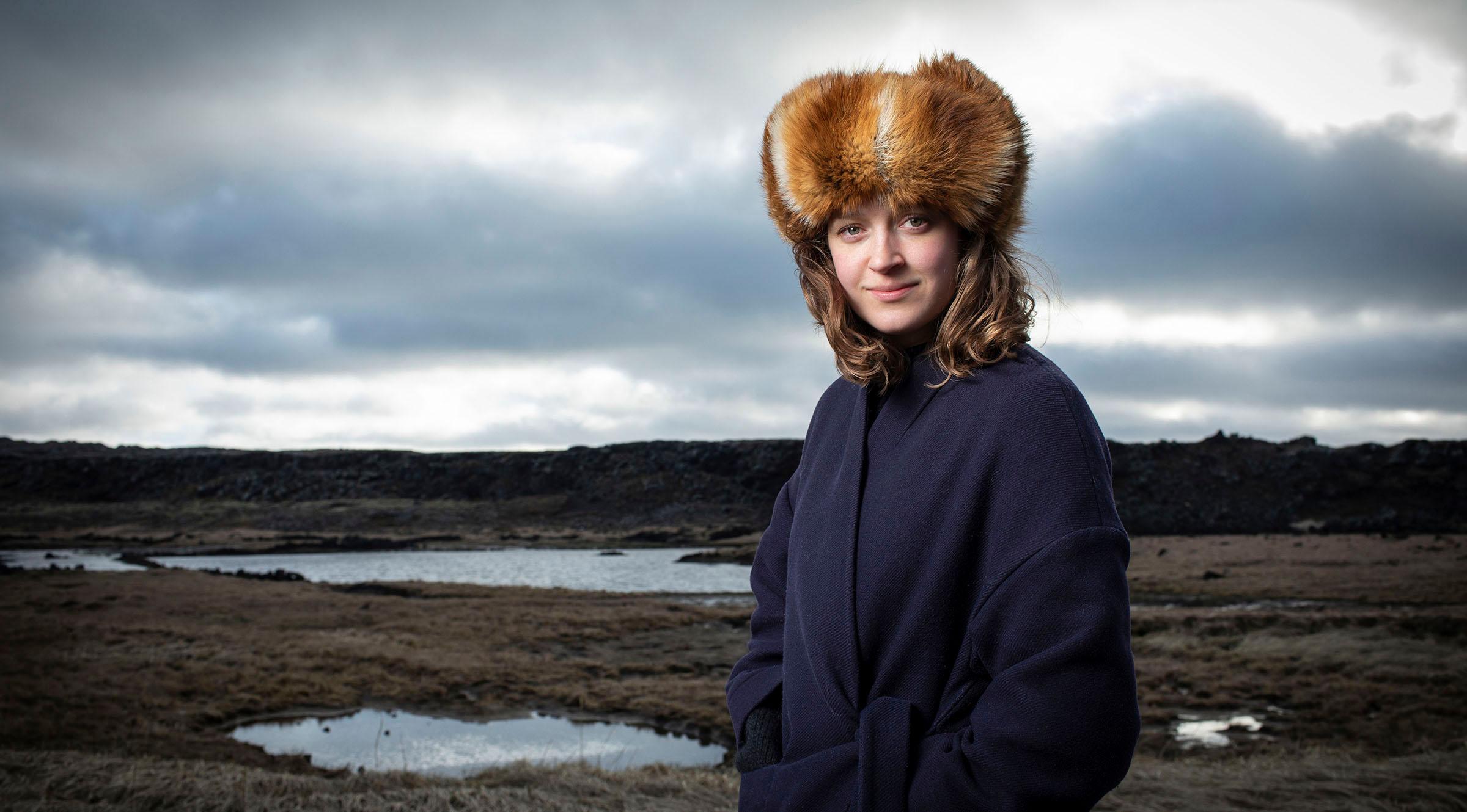 Portrait of Julia in Iceland
