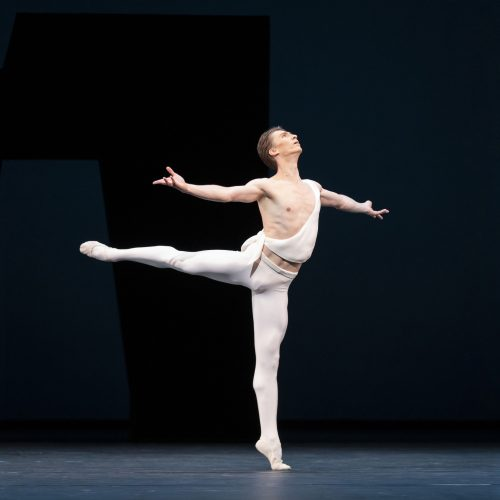 Vadim Muntagirov as Apollo in the ballet 'Apollo' by George Balanchine