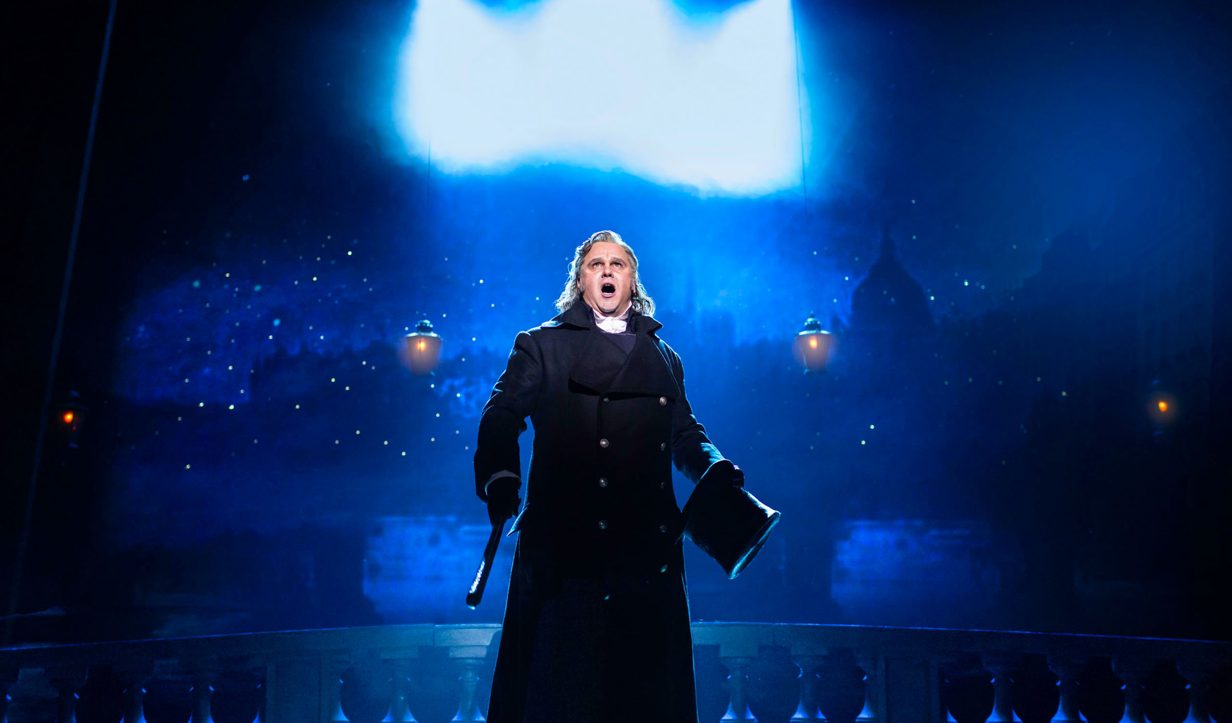Nic Greenshields as Javert in Les Misérables UK and Ireland Tour