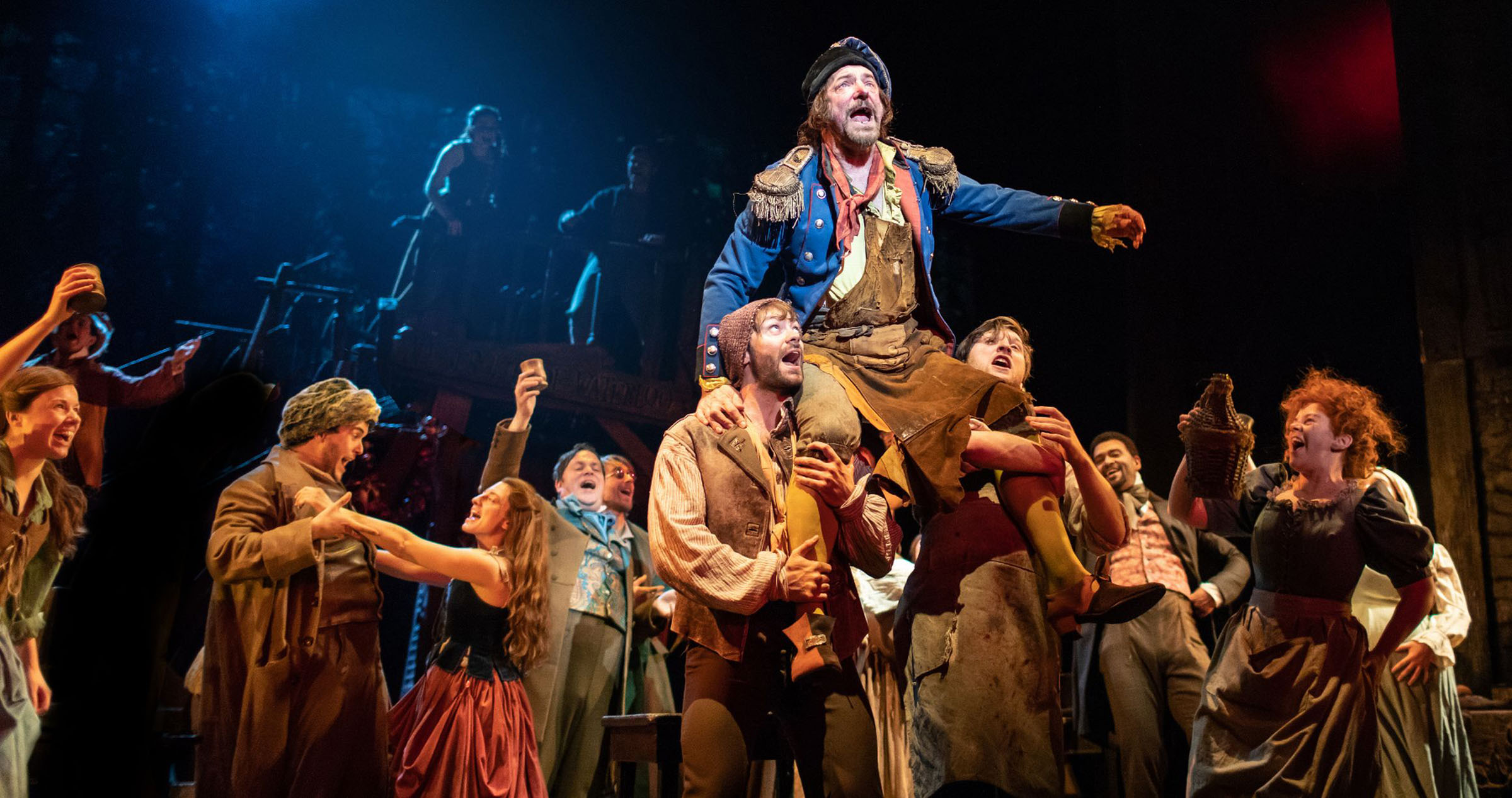 Production photography of the cast of Les Misérables by Helen Maybanks