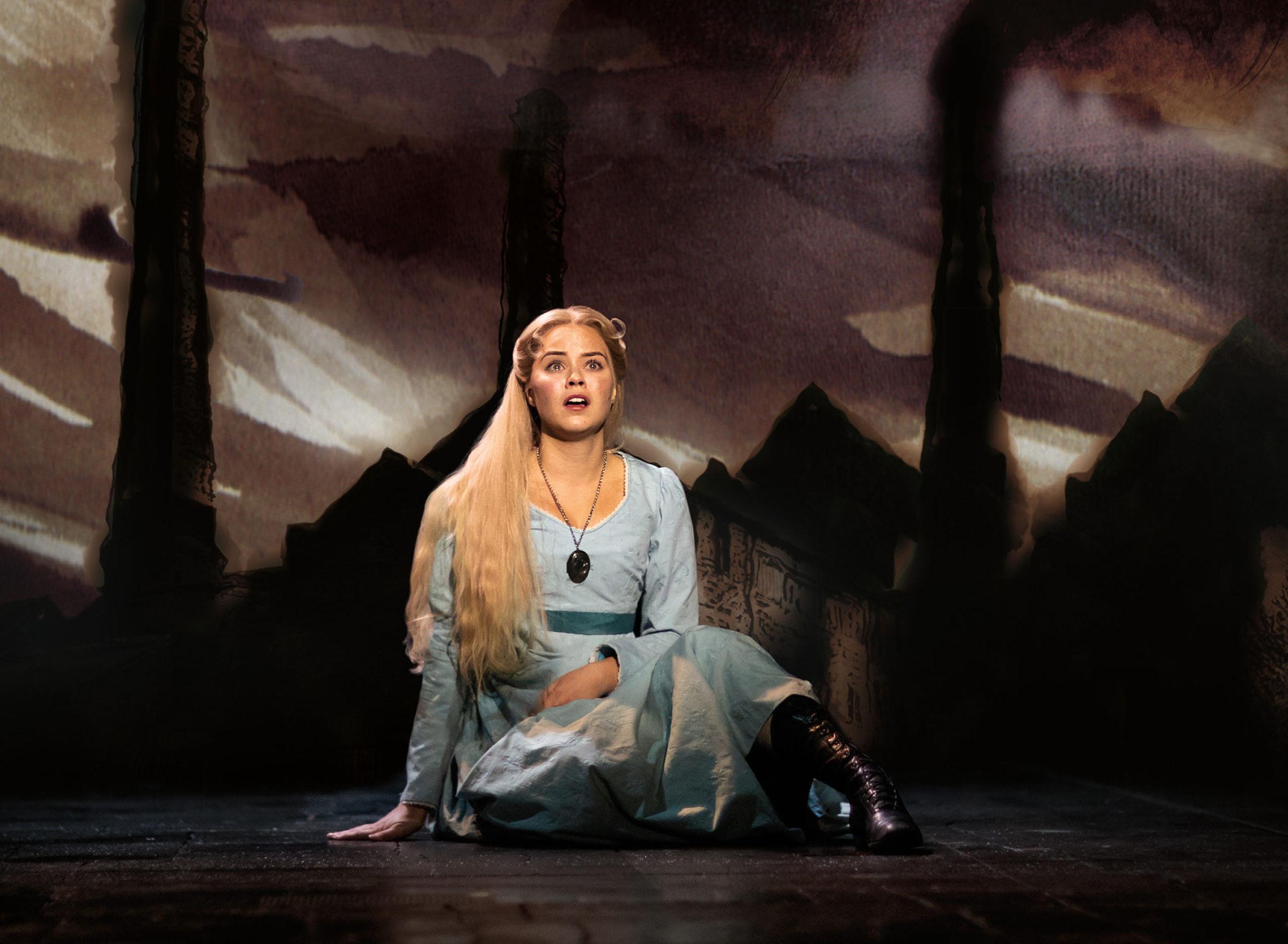Katie Hall as Fantine in a theatre production photo of Les Misérables