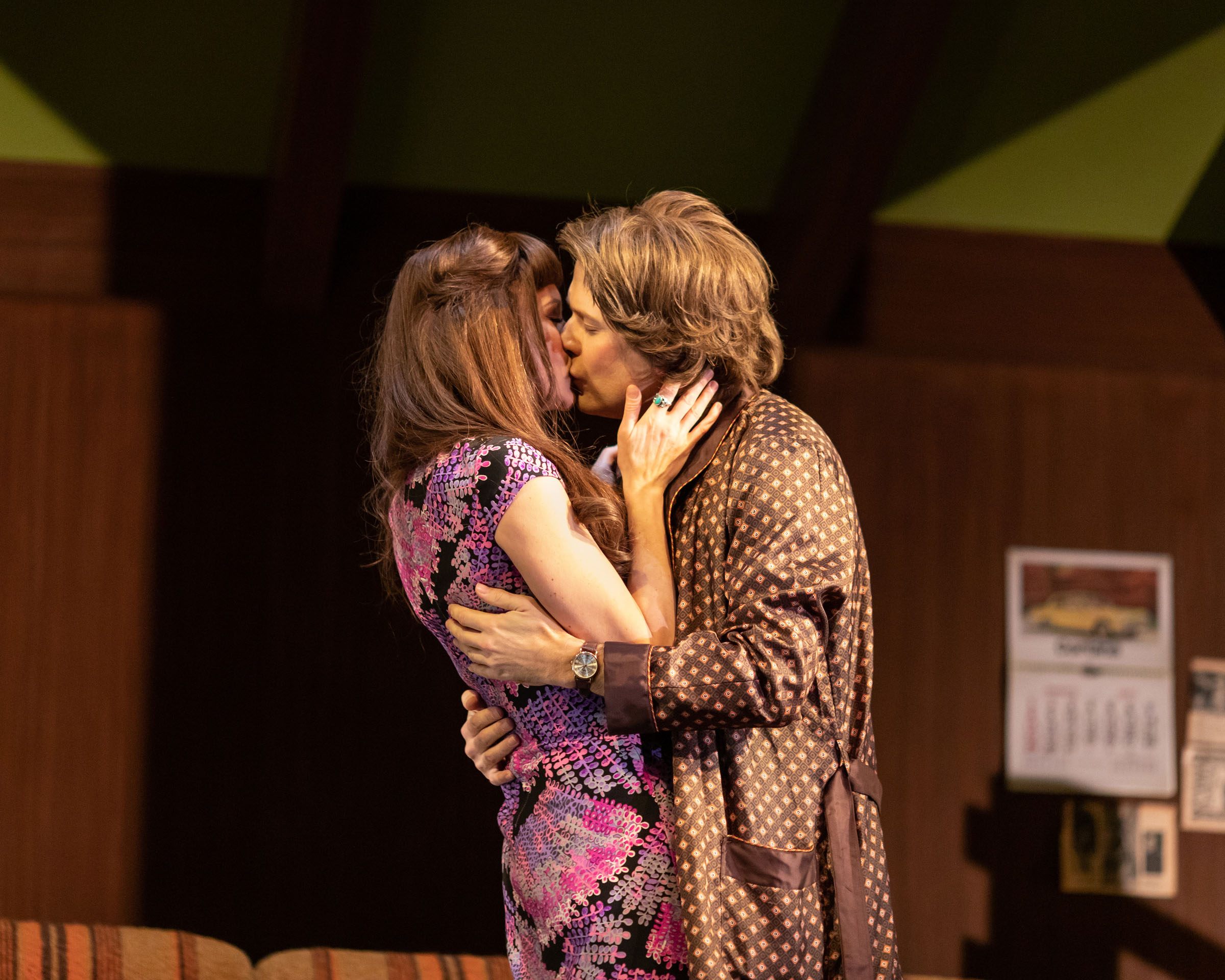 Rachael Stirling (Sandra) and Nicholas Burns (Kenneth) in Love Love Love