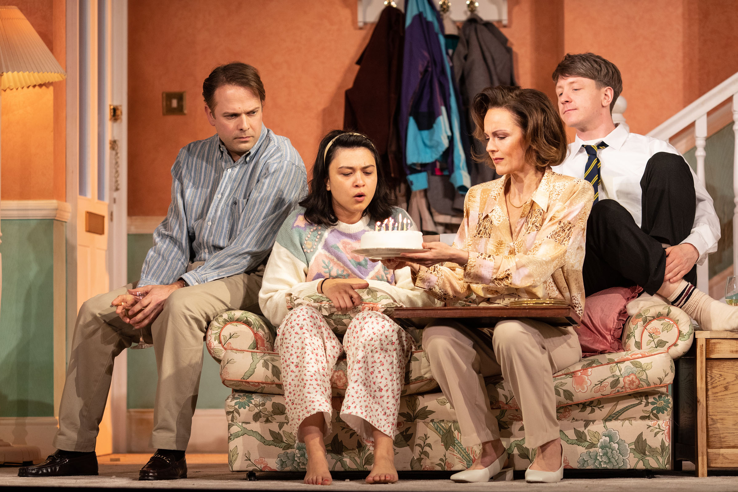 Nicholas Burns, Isabella Laughland, Rachael Stirling and Mike Noble
